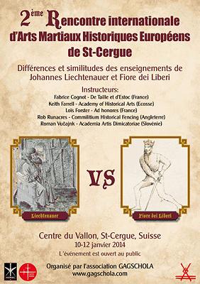 Stage Fiore vs Liechtenauer du 10 au 12 janvier 2014