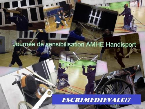 Stage de sensibilisation AMHE Handisport – 29 mars 2015 à Aigrefeuille-d'Aunis